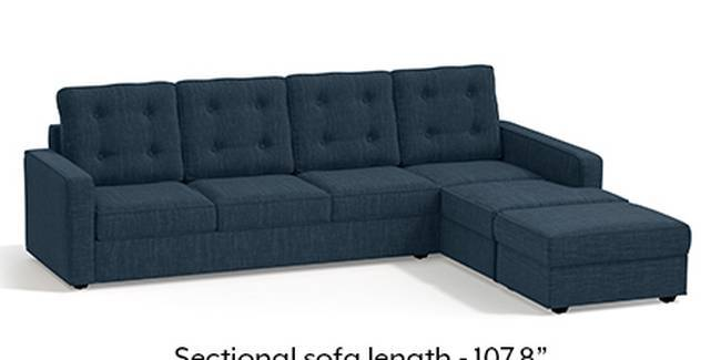 Apollo Sofa Set (Indigo Blue, Fabric Sofa Material, Regular Sofa Size, Soft Cushion Type, Sectional Sofa Type, Sectional Master Sofa Component, Tufted Back Type, Regular Back Height)