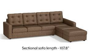 Apollo Sectional Tufted Sofa (Mocha)