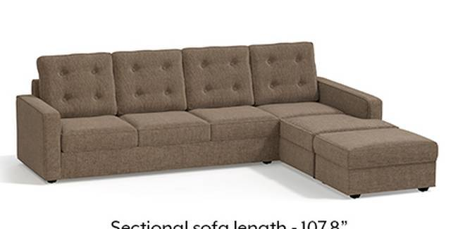 Apollo Sofa Set (Mist, Fabric Sofa Material, Regular Sofa Size, Soft Cushion Type, Sectional Sofa Type, Sectional Master Sofa Component, Tufted Back Type, Regular Back Height)