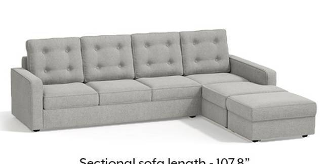 Apollo Sofa Set (Fabric Sofa Material, Regular Sofa Size, Soft Cushion Type, Sectional Sofa Type, Sectional Master Sofa Component, Vapour Grey, Tufted Back Type, Regular Back Height)