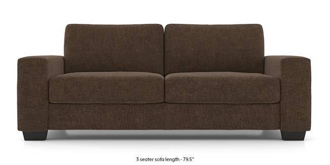 Leslie Sofa (Chestnut Brown) (1-seater Custom Set - Sofas, None Standard Set - Sofas, Dark Brown, Fabric Sofa Material, Regular Sofa Size, Regular Sofa Type)