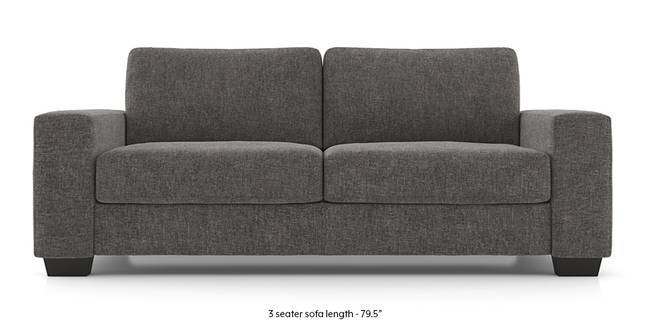 Leslie Sofa (Alloy Grey) (Grey, 3-seater Custom Set - Sofas, None Standard Set - Sofas, Fabric Sofa Material, Regular Sofa Size, Regular Sofa Type)
