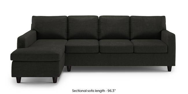 Walton Sectional Sofa (Charcoal Grey) (None Custom Set - Sofas, Left Aligned 3 seater + Chaise Standard Set - Sofas, Charcoal Grey, Fabric Sofa Material, Regular Sofa Size, Sectional Sofa Type)