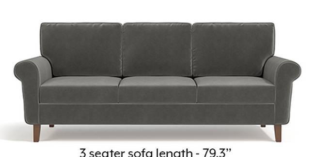 Oxford Sofa (Fabric Sofa Material, Regular Sofa Size, Soft Cushion Type, Regular Sofa Type, Master Sofa Component, Ash Grey Velvet)