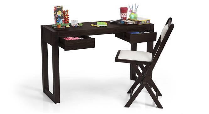 Austen Study Table - Bookshelf Bundle (Mahogany Finish) by Urban Ladder