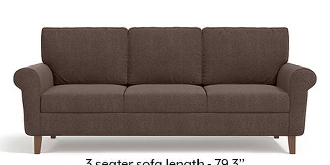 Oxford Sofa (Fabric Sofa Material, Regular Sofa Size, Soft Cushion Type, Regular Sofa Type, Master Sofa Component, Daschund Brown)