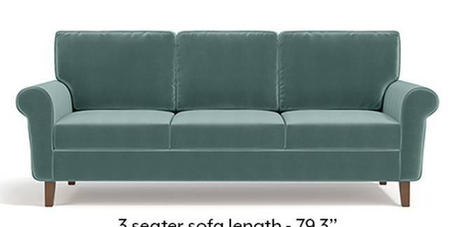 Oxford Sofa (Fabric Sofa Material, Regular Sofa Size, Soft Cushion Type, Regular Sofa Type, Master Sofa Component, Dusty Turquoise Velvet)