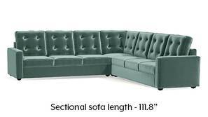 Apollo Corner Tufted Sofa (Dusty Turquoise Velvet)