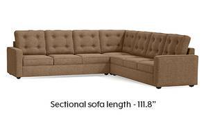 Apollo Corner Tufted Sofa (Safari Brown)