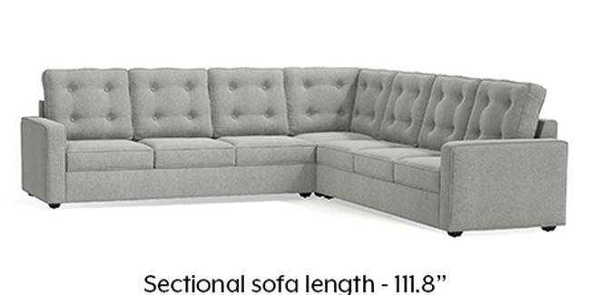 Apollo Sofa Set (Fabric Sofa Material, Regular Sofa Size, Soft Cushion Type, Corner Sofa Type, Corner Master Sofa Component, Vapour Grey, Tufted Back Type, Regular Back Height)