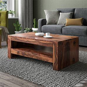 Epsilon Coffee Table (Teak Finish) by Urban Ladder