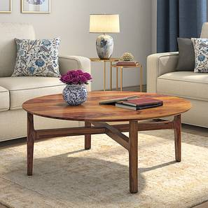 Cayman Wooden Top Coffee Table (Teak Finish) by Urban Ladder