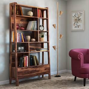 Alberto Bookshelf (85-book capacity) (Teak Finish) by Urban Ladder