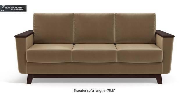 Corby Sofa (Tuscan Tan Velvet) (3-seater Custom Set - Sofas, None Standard Set - Sofas, Fabric Sofa Material, Regular Sofa Size, Regular Sofa Type, Tuscan Tan Velvet)