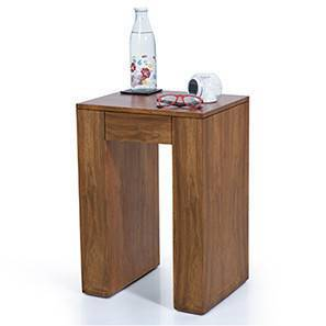 Epsilon Side Table (Teak Finish) by Urban Ladder