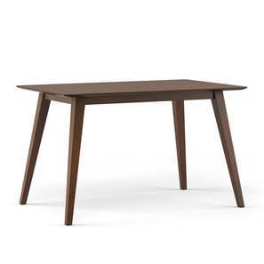 Lawson 4 Seater Dining Table (Walnut Finish) by Urban Ladder