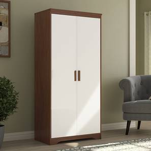 Hilton 2 Door Wardrobe (Two-Tone Finish, Without Mirror Mirror, Without Drawer Configuration, 6 Feet Height) by Urban Ladder