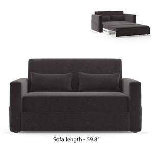 Camden Compact Sofa Cum Bed (Smoke Grey)