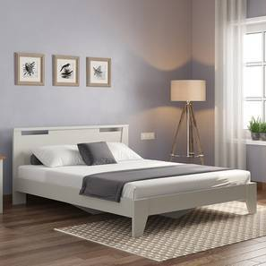 Pavis Bed (King Bed Size, White Finish) by Urban Ladder