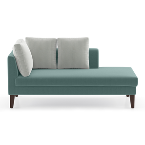 Sigmund Day Bed (Dusty Turquoise Velvet, Right Aligned) by Urban Ladder