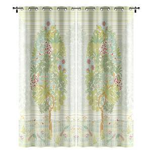 Tree Of Life Door Curtains Set 2 Multi Colour 54