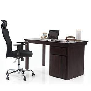 Bradbury - Venturi Study Set (Mahogany Finish, Carbon Black) by Urban Ladder