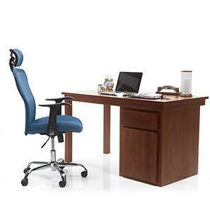 Bradbury - Venturi Study Set (Teak Finish, Aqua) by Urban Ladder