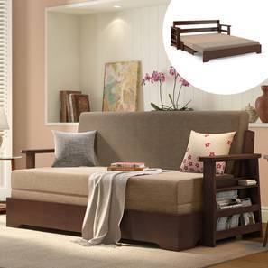 Swell Oshiwara Sofa Cum Bed Dark Walnut Finish Two Tone Download Free Architecture Designs Scobabritishbridgeorg