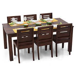 Arabia XL - Capra 6 Seater Dining Set (Mahogany Finish) by Urban Ladder