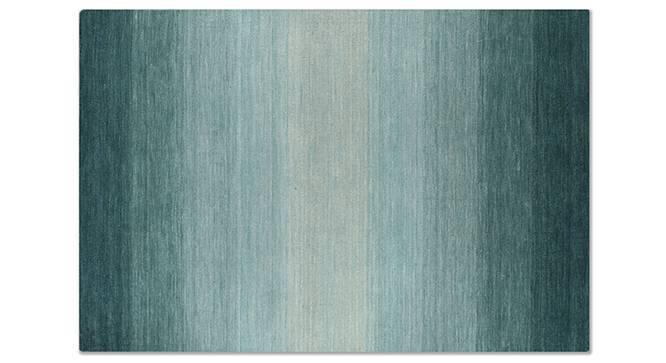 "Aurora Hand Loom Carpet (60'' x 93"" Carpet Size, Teal) by Urban Ladder"