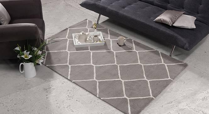 "Virginia Hand Tufted Carpet (Grey, 60'' x 93"" Carpet Size) by Urban Ladder"