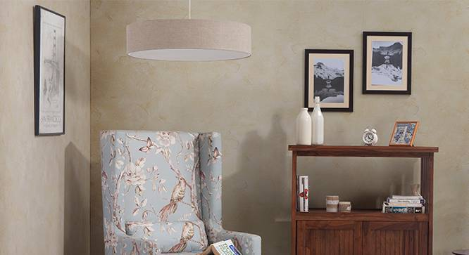 Halo Ceiling Light (Single Arrangement, Natural Linen Shade Finish) by Urban Ladder