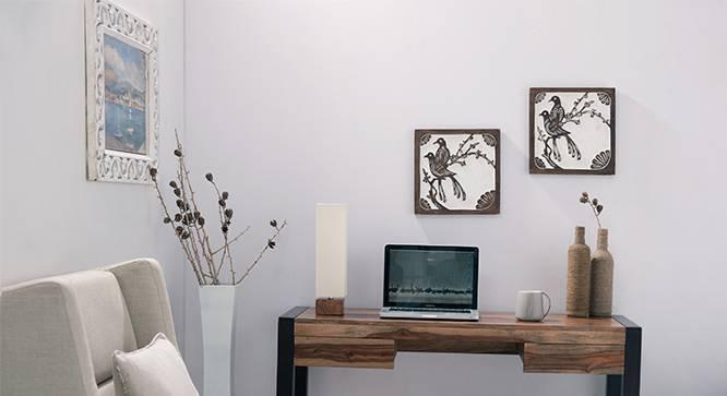 Madera Table Lamp (Natural Base Finish, White Shade Color, Square Shade Shape) by Urban Ladder
