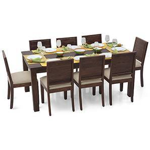 Arabia XL - Oribi 8 Seater Dining Set (Mahogany Finish, Wheat Brown) by Urban Ladder