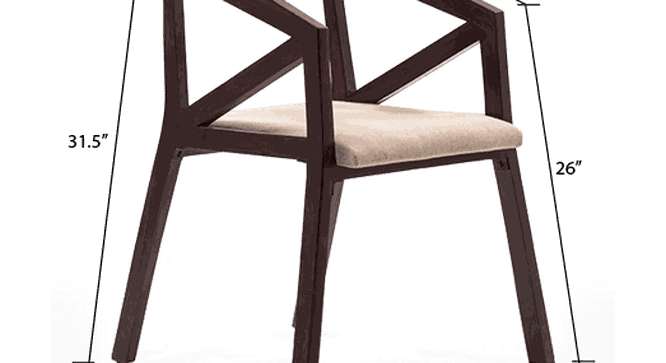 Howe Chair (Mahogany Finish) by Urban Ladder