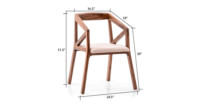 Howe Chair (Teak Finish) by Urban Ladder