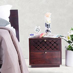 Alaca Bedside Table (Mahogany Finish) by Urban Ladder
