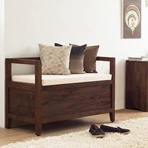 Patoa Entryway Storage bench (Mahogany Finish) by Urban Ladder