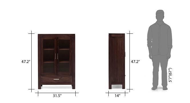 Carnegie crockery cabinet mahogany 17 18