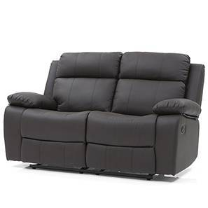 Robert Two Seater Recliner Sofa (Chocolate Brown Leatherette) by Urban Ladder