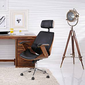 finest selection 8a4e0 1c971 Ray Executive Study Chair(Walnut Finish, Black)