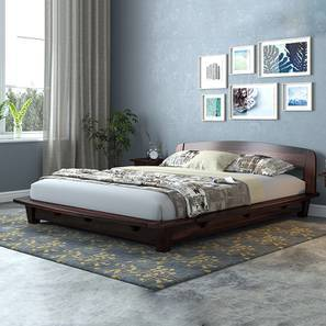 Tahiti Platform Bed (Mahogany Finish, Queen Bed Size) by Urban Ladder