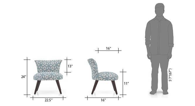 Robbins lounge chair blue lattice 08 9