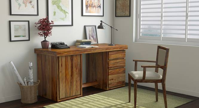 Vector Executive Desk (Teak Finish) by Urban Ladder