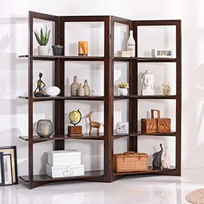 Andreas Room Divider (Dark Walnut Finish) by Urban Ladder