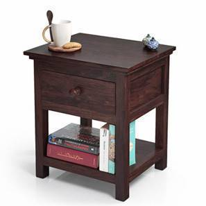 Snooze Bedside Table (Mahogany Finish) by Urban Ladder