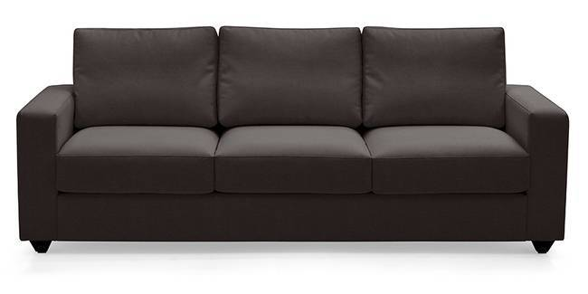 Apollo Leatherette Sofa (Chocolate) (Chocolate, Leatherette Sofa Material, Regular Sofa Size, Regular Sofa Type)