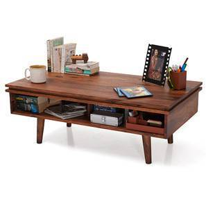 Parker Coffee Table (Teak Finish) by Urban Ladder