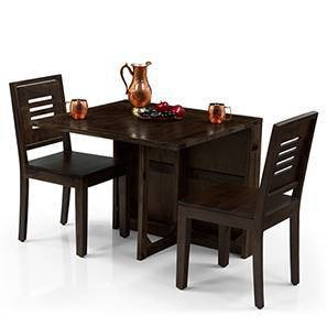 Danton 3-to-6 - Capra 2 Seater Folding Dining Table Set (Mahogany Finish) by Urban Ladder