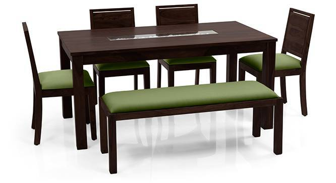 Brighton Large Oribi 6 Seater Dining Table Set With Upholstered